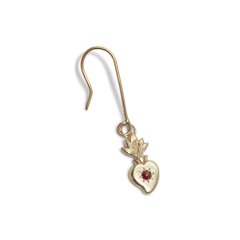 Bleeding Heart (Single) Earrings by Anna Marrone