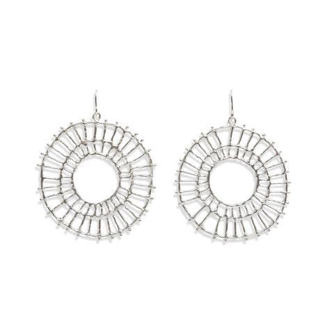 Large Disc Earrings by Anna Vlahos