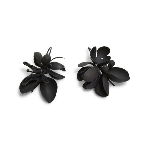 Medium Oxidised Native Bouquet Earrings