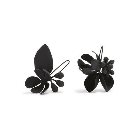 Medium Oxidised Native Floral Bouquet Earrings