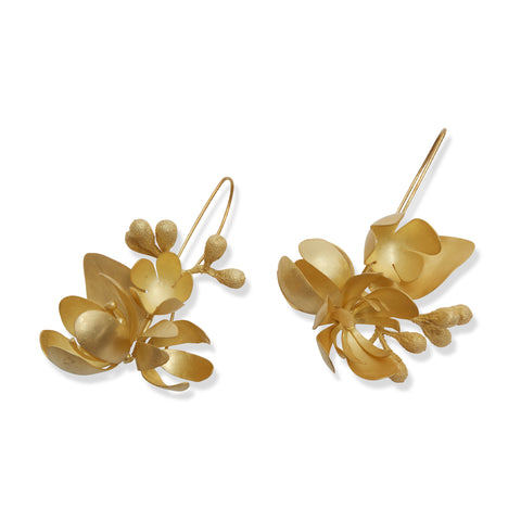 Large Golden Native Bouquet Earrings