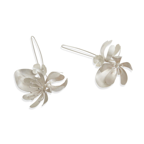 Silver Spring Bouquet Hook Earrings