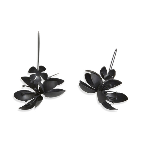 Oxidised Spring Bouquet Hook Earrings