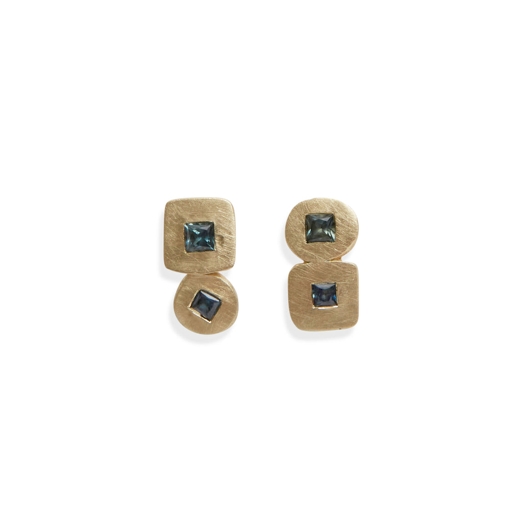 Duo Parti Sapphire Earrings
