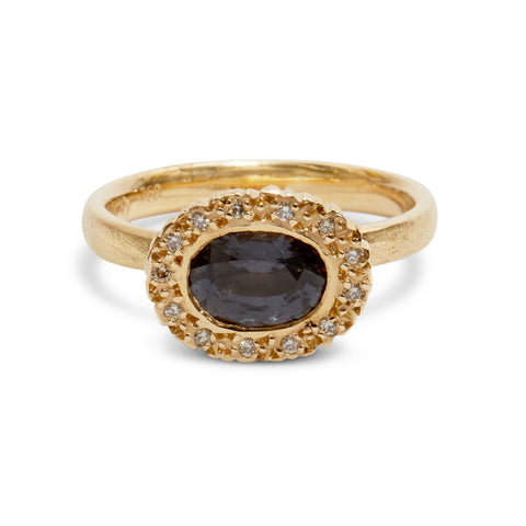 Precious Big Rock Oval Spinel Ring