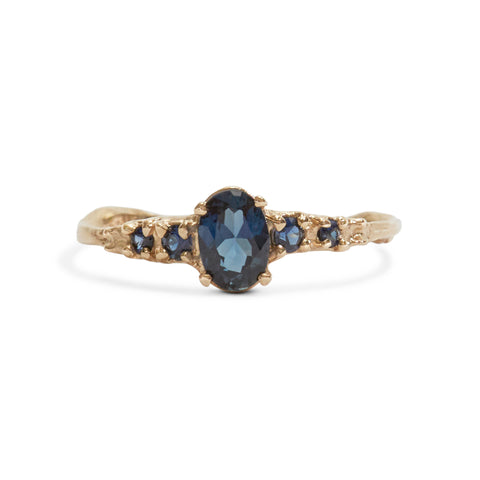 Wide Oval Towers Sapphire Ring by Luke Maninov Hammond