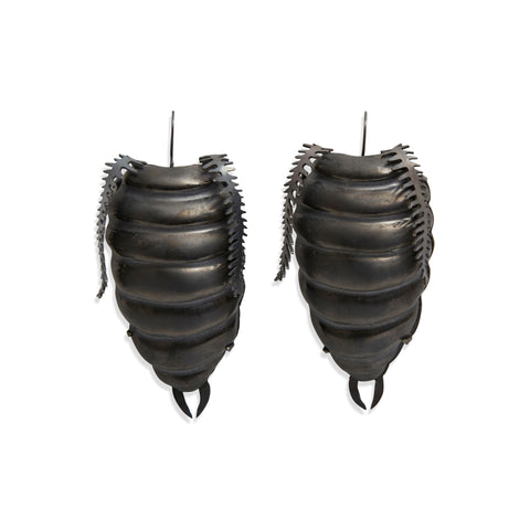 Oxidised Arthropoda Earrings