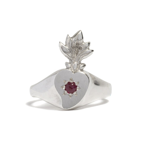 Bleeding Heart Ring by Anna Marrone