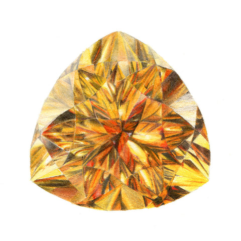 Citrine Gem Illustration