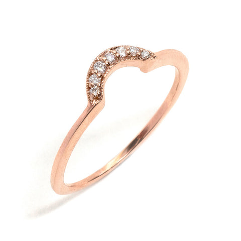 Tiara Crescent Ring