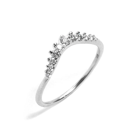 Tiara Curve Ring by Anna Sheffield