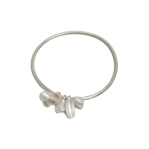 Three Double Pod Charms Bangle by Belinda Esperson