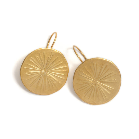 Large Aster Disc Earrings by David Neale