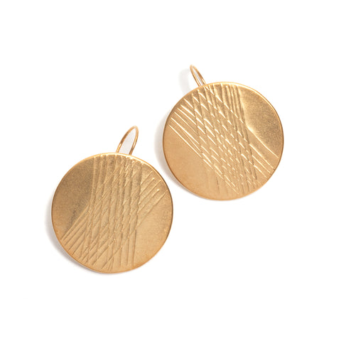 Crosshatch Disc Earrings by David Neale