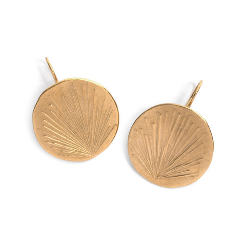 Ray Disc Earrings
