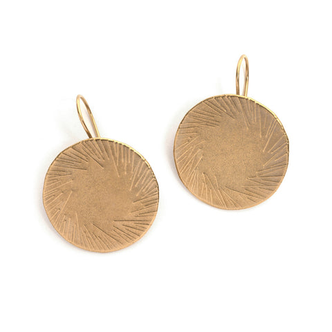 Icicles Disc Earrings