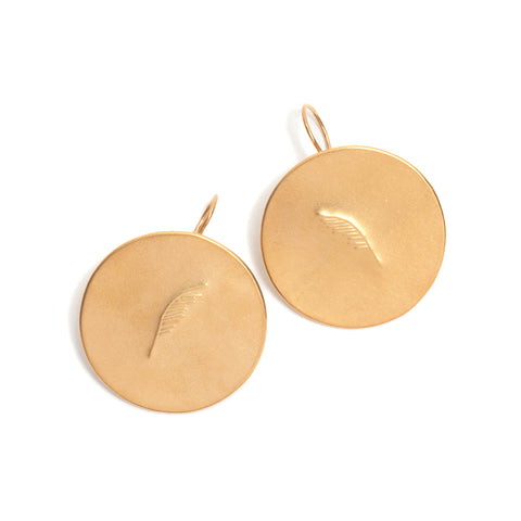 Petite Pattern Disc Earrings by David Neale