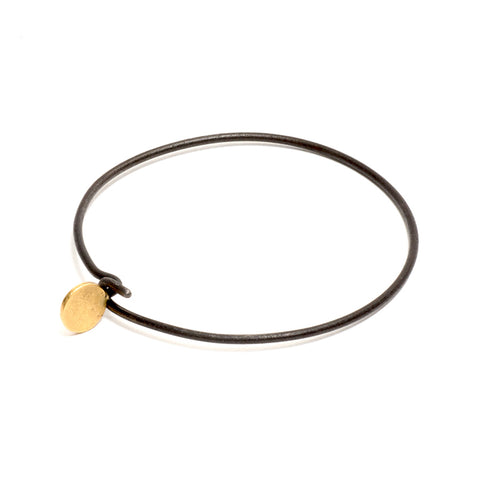 Ulno Disc Iron Bangle by David Neale