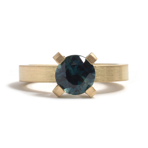 Brilliant Sapphire Solitaire Ring by David Parker