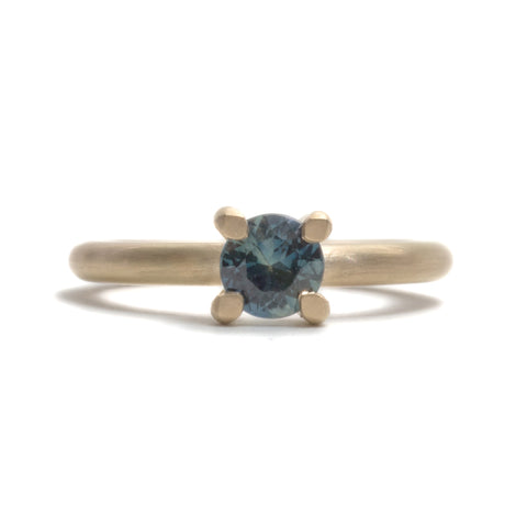 Brilliant Petite Sapphire Solitaire Ring by David Parker