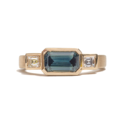 Landscape Sapphire Ring by David Parker