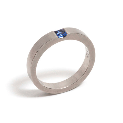 Mid Blue Sapphire Ring