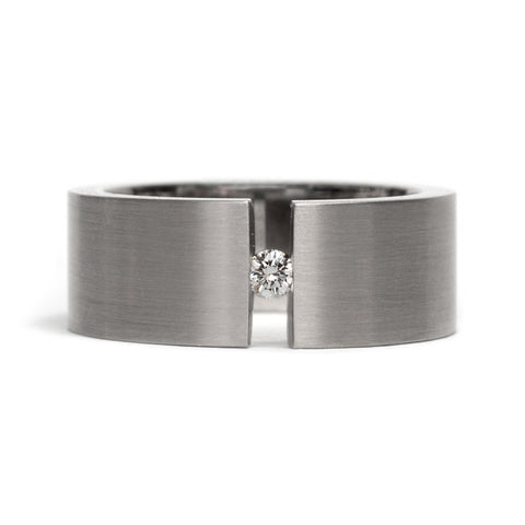 Tension Diamond Ring by David Parker