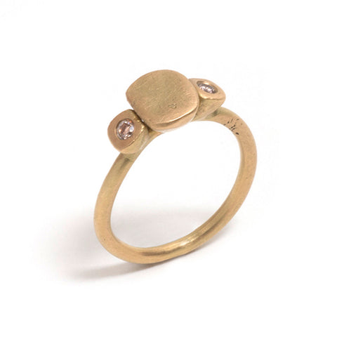 Cognac Diamond Transformations Ring