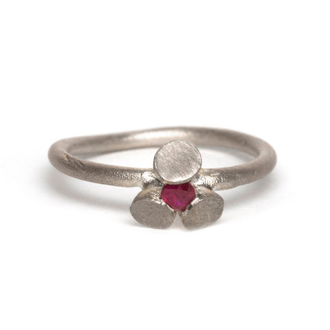 Sterling Silver and Ruby Transformations Ring by Djurdjica Kesic