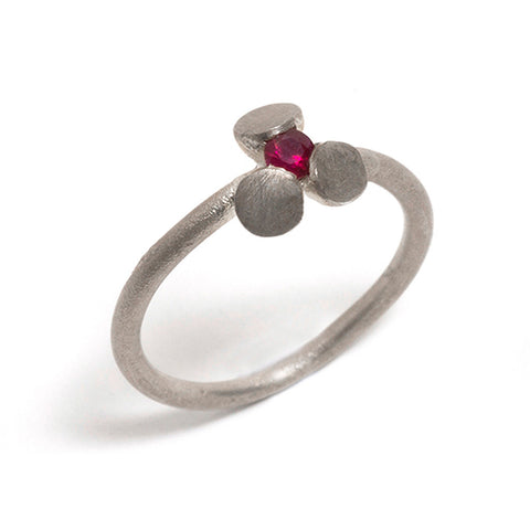 Sterling Silver and Ruby Transformations Ring