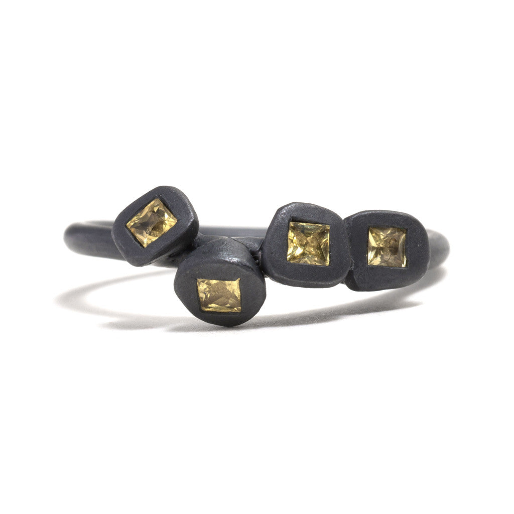 Multi Yellow Sapphire Transformations Ring