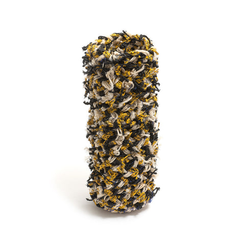 Black and Yellow Cylinder by Erub Arts