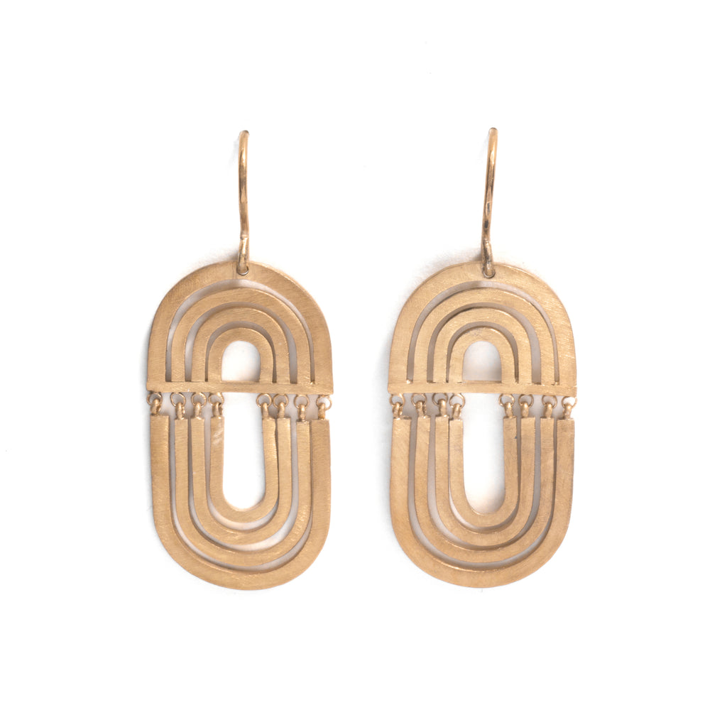 Golden Shift Orbit Earrings