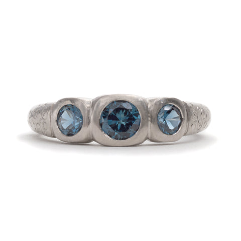 Moonlit River Stones Ring by Julia Storey