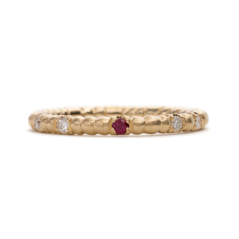 Scattered Seeds Ruby Ring