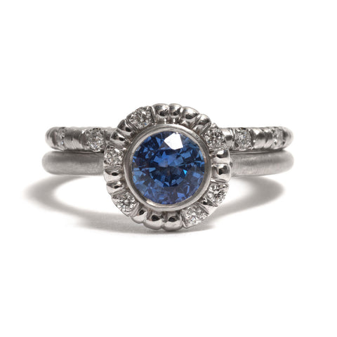 Azure Bloom Ring by Julia Storey