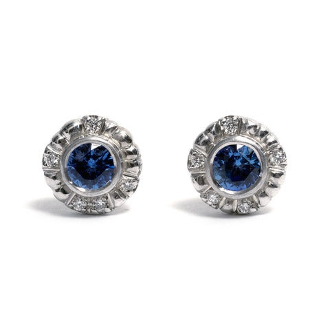 Azure Bloom Stud Earrings