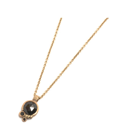 Floret Black Diamond Pendant by Julia Storey