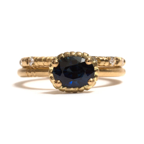Tidal Rock Pool Sapphire Ring by Julia Storey