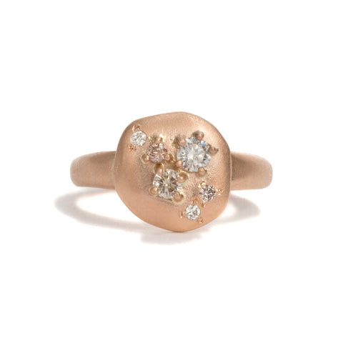 Step Stone Rose Gold Ring by Julia Storey