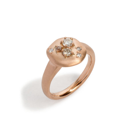 Step Stone Rose Gold Ring