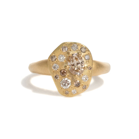 Step Stone Yellow Gold Ring by Julia Storey