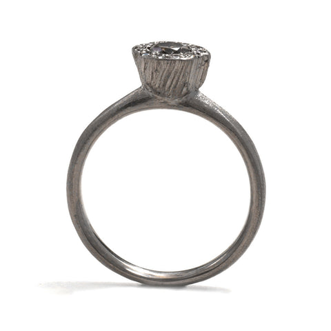 Precious Big Rock White Gold Ring