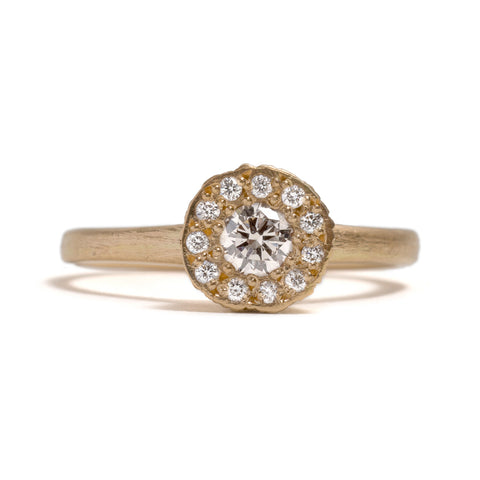 Precious Big Rock Yellow Gold Ring