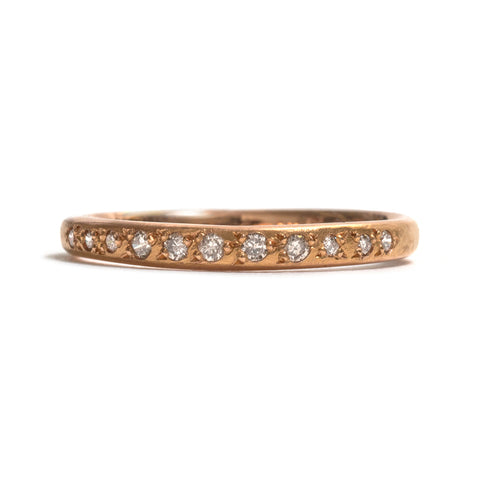 Rose Gold String of Stones Ring