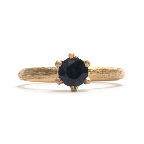 Stone Love Sapphire Solitaire Ring by Karla Way