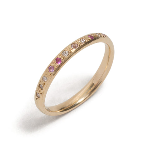 Pink Scattered Stones Ring