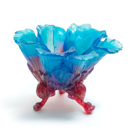 Red & Blue Leafy Bowl by Kate Rohde