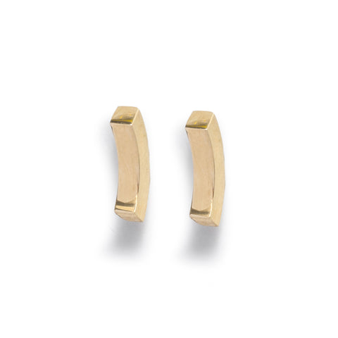 Curved Heavy Bar Stud Earrings by Kieran Jackson
