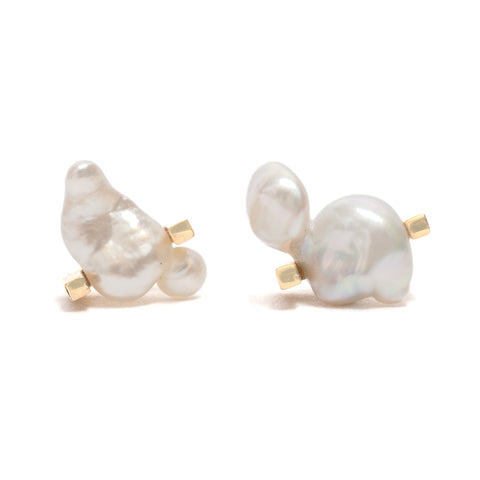 Keshi Set II Stud Earrings by Kieran Jackson